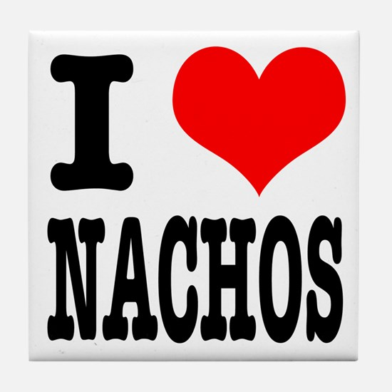 I Heart (Love) Nachos Tile Coaster