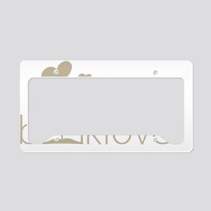 Book Lover - floating hearts  License Plate Holder
