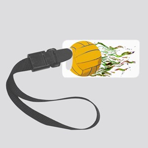Flaming Waterpolo Ball US Olympi Small Luggage Tag