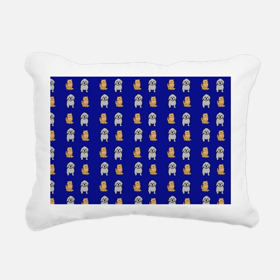 Cute Cats and Dogs Rectangular Canvas Pillow