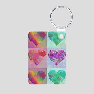 SIX HEARTS DESIGN Aluminum Photo Keychain