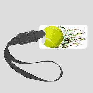 Tennis Ball Flames Artistic US O Small Luggage Tag