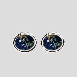 Planet Earth Space World Green Organic Cufflinks