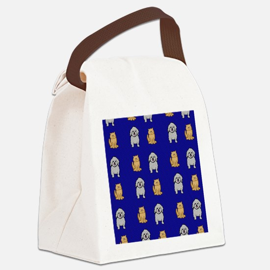 Cute Cats and Dogs Canvas Lunch Bag