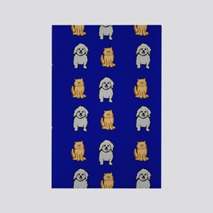 Cute Cats and Dogs Rectangle Magnet