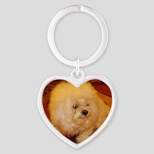 Coco Smiles Heart Keychain