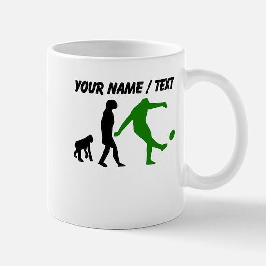 Custom Rugby Kick Evolution (Green) Mugs