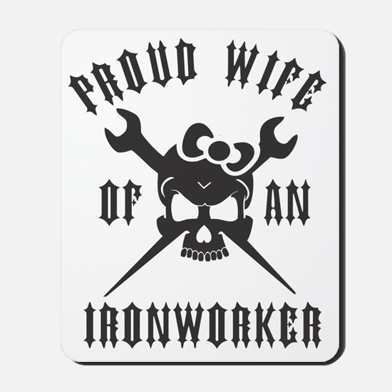 IRONWORKER WIFE LOGO BLACK Mousepad