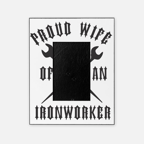 IRONWORKER WIFE LOGO BLACK Picture Frame