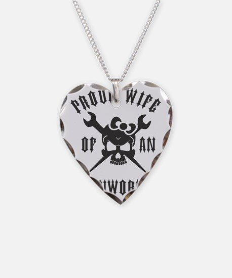 IRONWORKER WIFE LOGO BLACK Necklace