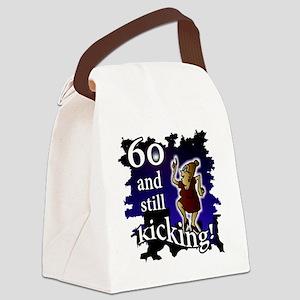 60 Lady Still Kicking Canvas Lunch Bag