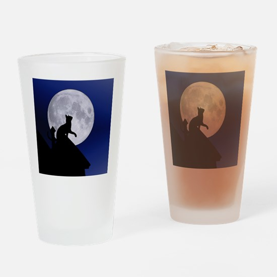 Cute Catlover Drinking Glass