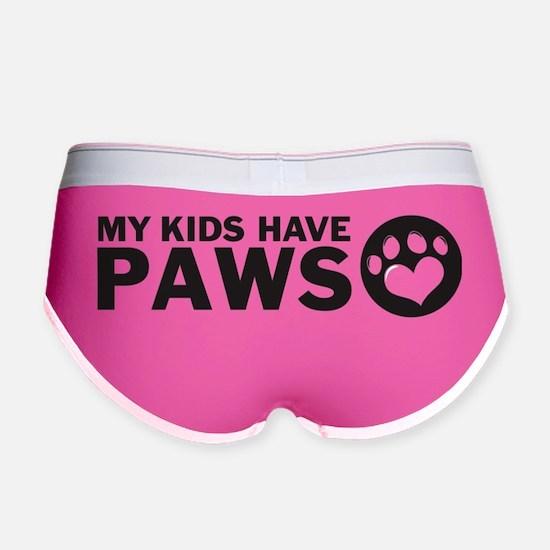 my kids have paws Women's Boy Brief