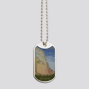 Zion National Park Vintage Poster Dog Tags