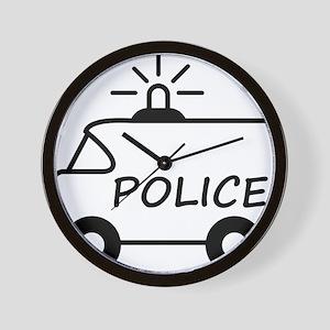 police_truck Wall Clock