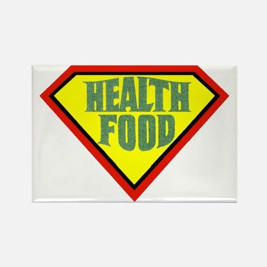 Super Health Food Rectangle Magnet
