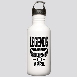 LEGENDS ARE BORN IN APRIL Water Bottle