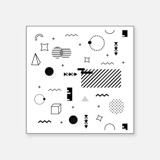 "Cool Simple math Square Sticker 3"" x 3"""