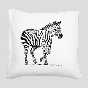 Zebra Square Canvas Pillow