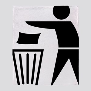 garbage_can Throw Blanket