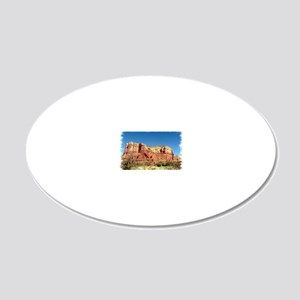 Courthouse Butte 20x12 Oval Wall Decal