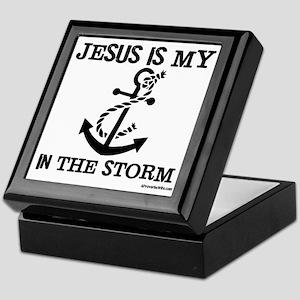 Jesus is my Anchor Black JailBird Jen Keepsake Box