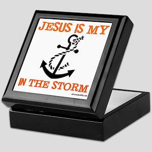 Jesus is my Anchor Orange JailBird Je Keepsake Box