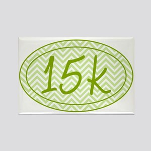 15k Green Chevron Rectangle Magnet