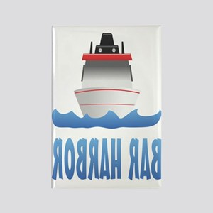 Bar Harbor Boat Back Rectangle Magnet