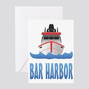 Bar Harbor Boat Front Greeting Card