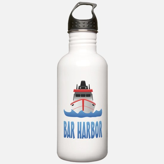 Bar Harbor Boat Front Water Bottle