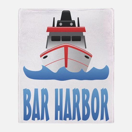 Bar Harbor Boat Front Throw Blanket