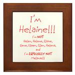 I'm Helaine Framed Tile