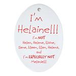 I'm Helaine Ornament (Oval)