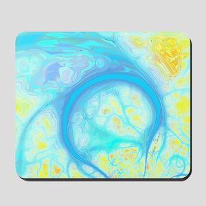 Streams of Joy – Cosmic Aqua  Lemon Mousepad