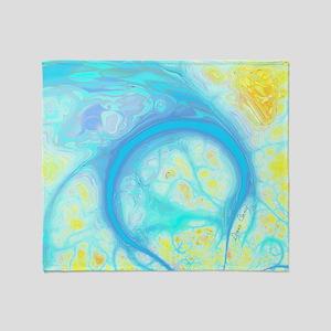 Streams of Joy – Cosmic Aqua  Lemon Throw Blanket