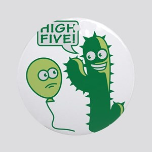 cactus_high_five Round Ornament