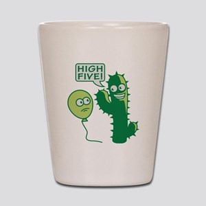 cactus_high_five Shot Glass