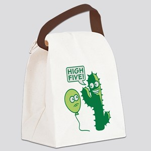 cactus_high_five Canvas Lunch Bag