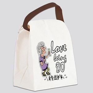 Love 80 Woman Canvas Lunch Bag