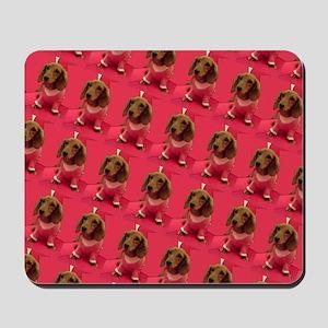 Pink Arizona Dachshund Mirage Designer Mousepad