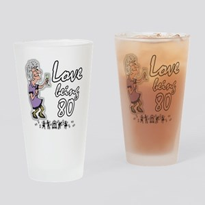 Love 80 Woman Drinking Glass