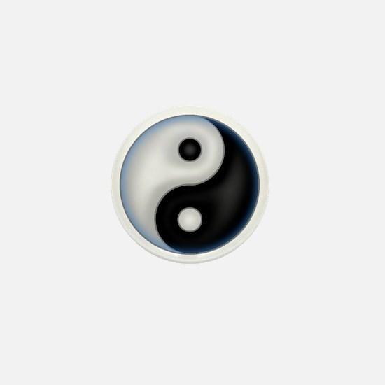 YinYang Blue Mini Button