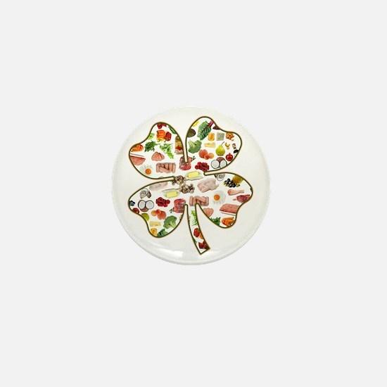 Paleo 4-Leaf Clover Mini Button