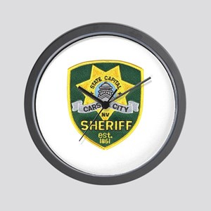 Carson City Sheriff Wall Clock