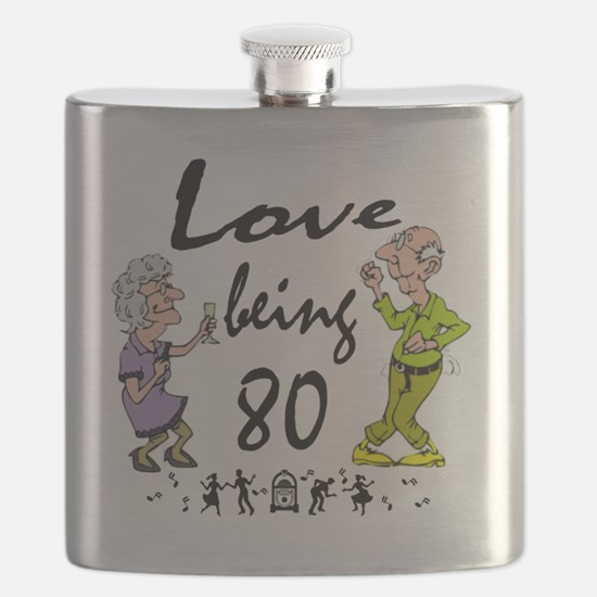 Love 80 Couple Flask
