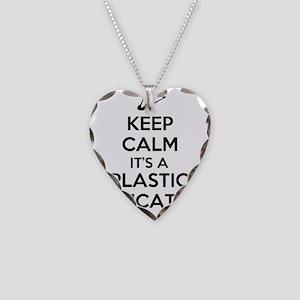 Keep Calm, Its a Plastic Educ Necklace Heart Charm