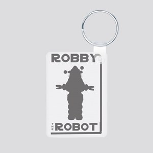 Robby the Robot Outline Aluminum Photo Keychain