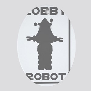 Robby the Robot Outline Oval Ornament