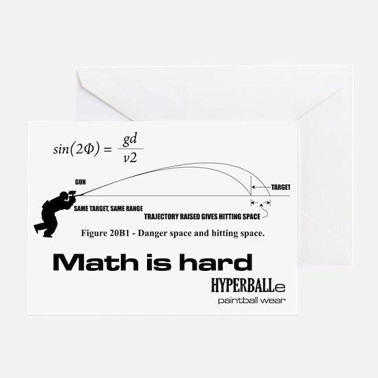 Math Is Hard Greeting Card